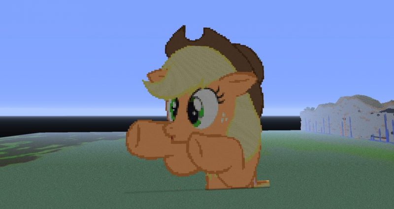 my_little_pony_applejack_pixel_art_by_thegoon3