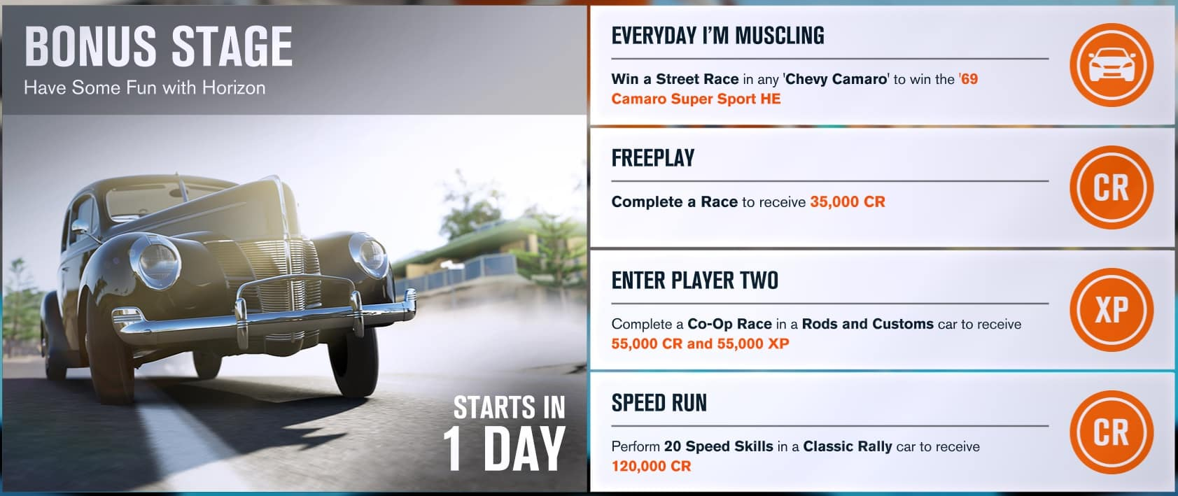 Forza Horizon 3 Forzathon - Week Commencing 28th August