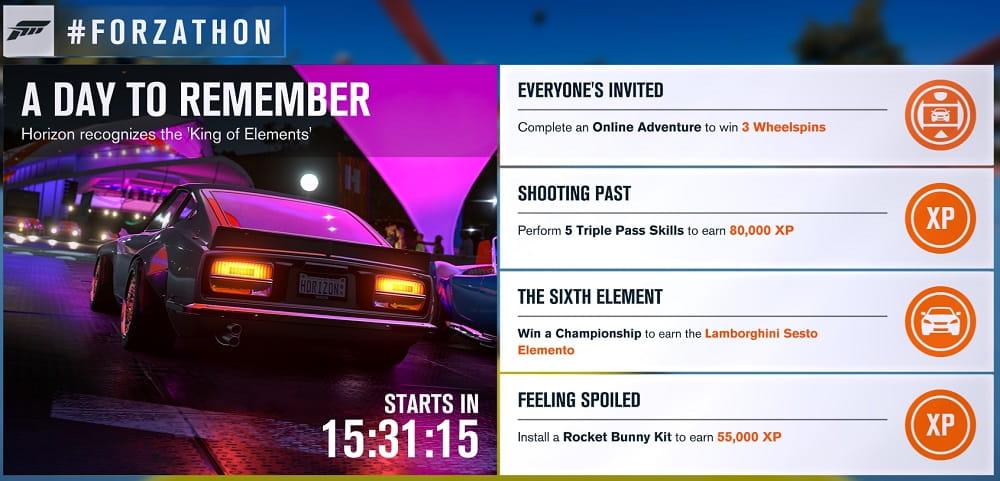 Forza Horizon 3 Forzathon