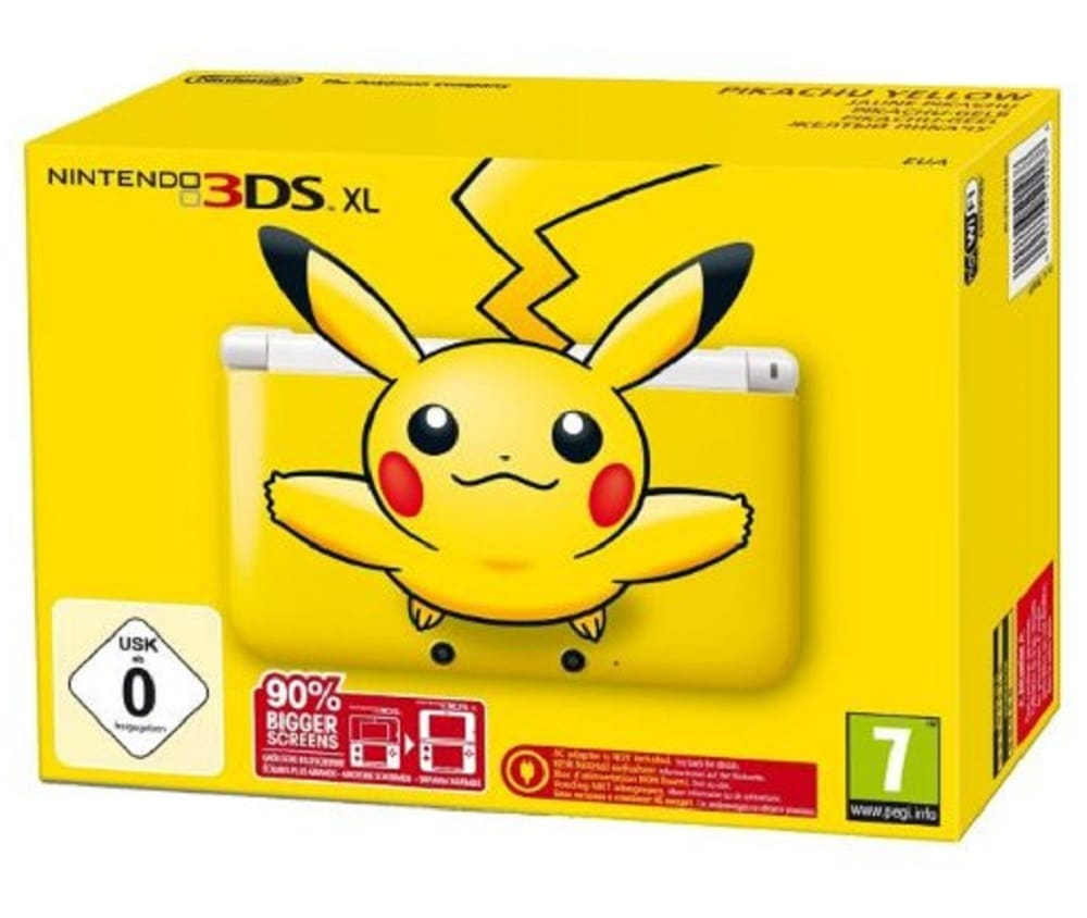 Pikachu Yellow 3DS XL