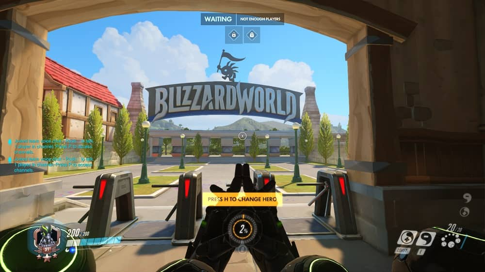 Overwatch Blizzard World entrance