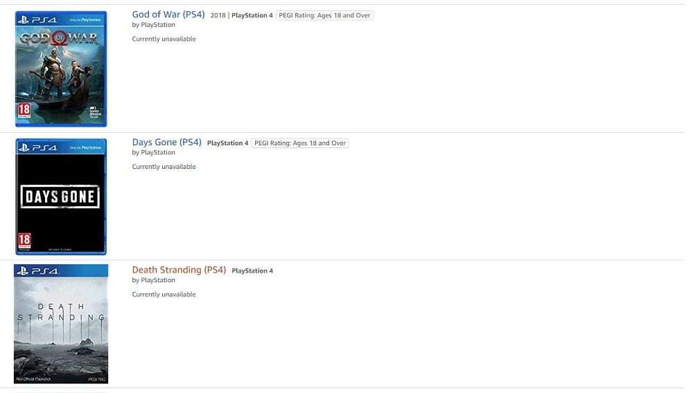 Sony Games Amazon