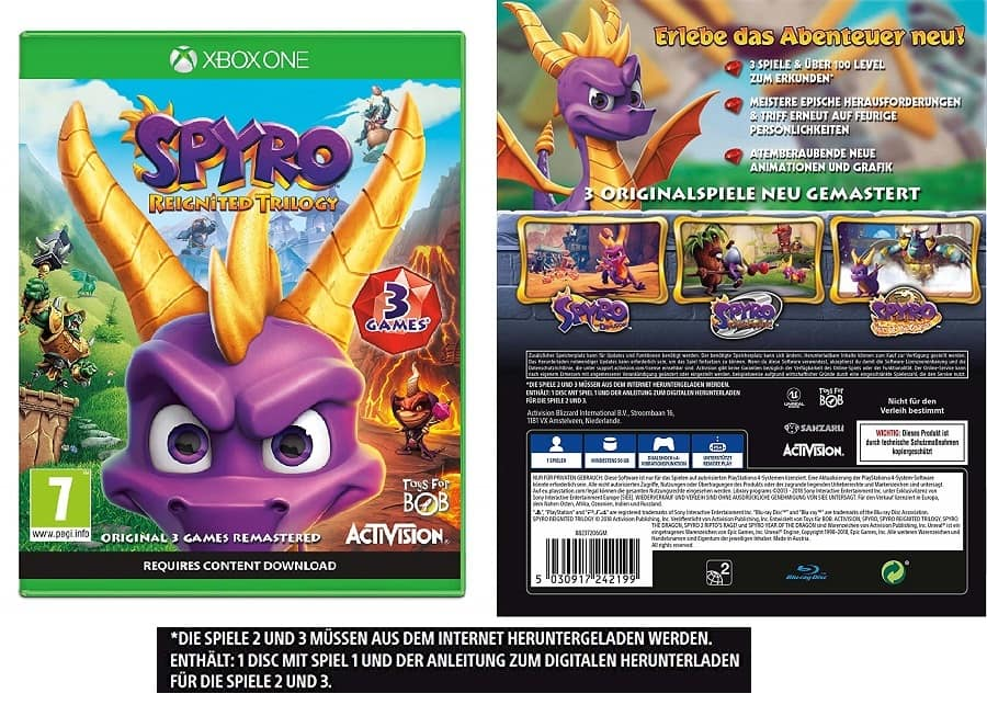 Spyro Reignited Trilogy box