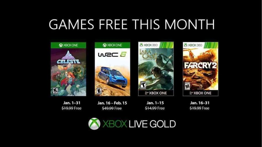 Full List of Xbox Games with Gold Games