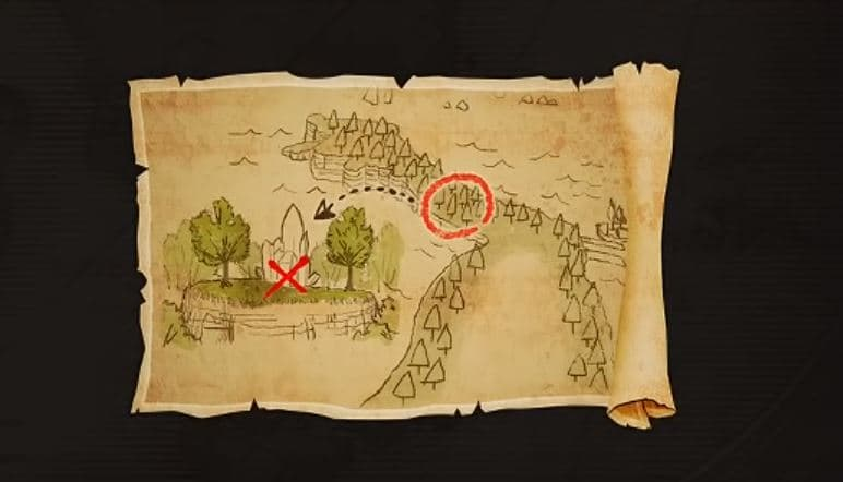 How to Complete the First Treasure Map Mission in One Piece ... Image Of A Treasure Map Find on a map of jupiter, a map of life, a map of love, a map of odyssey, a map of home, a map of sahara, a map of cascade, a map of time, a map of roosevelt, a map of ocean,