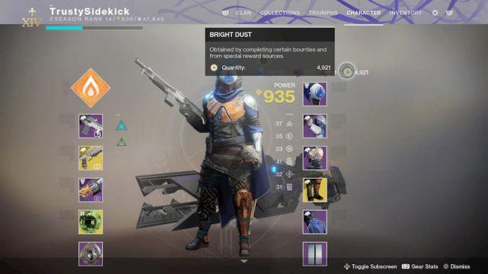 Destiny 2 bright dust