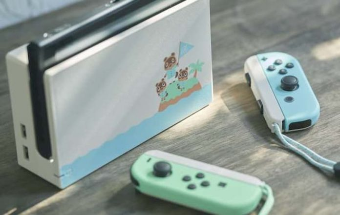 nintendo switch animal crossing edition back