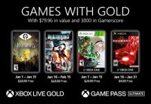 Xbox Games With Gold January