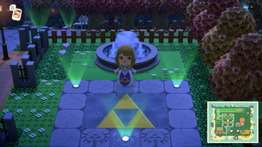 Animal Crossing Legend of Zelda Island
