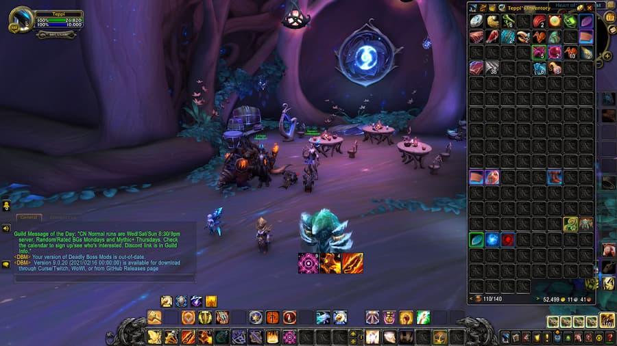 World of Warcraft Bagnon