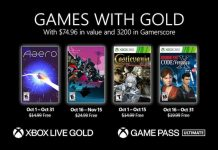 Xbox Games With Gold Oct 2021